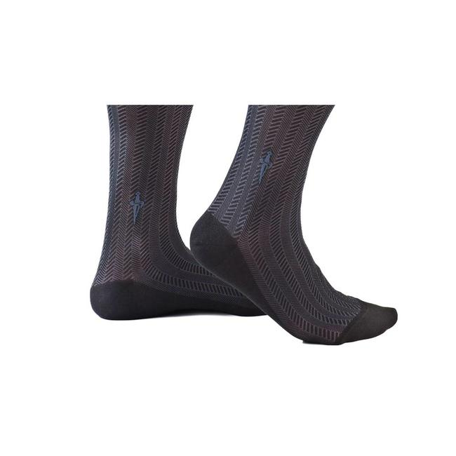 Cesare Paciotti Zwarte·sokken·kabel·Spinato