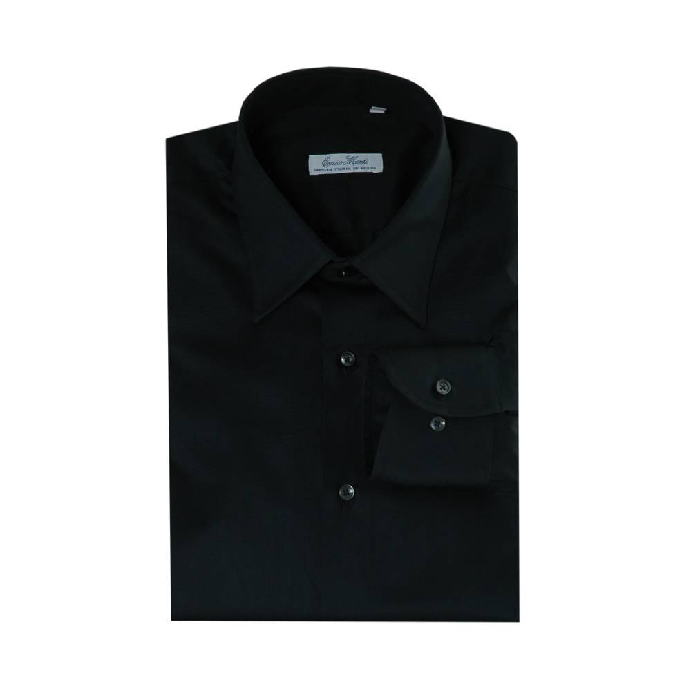 Monti zwart overhemd Aliseo SLIM FIT