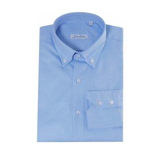 Enrico Monti  Monti blauw overhemd Maggiore