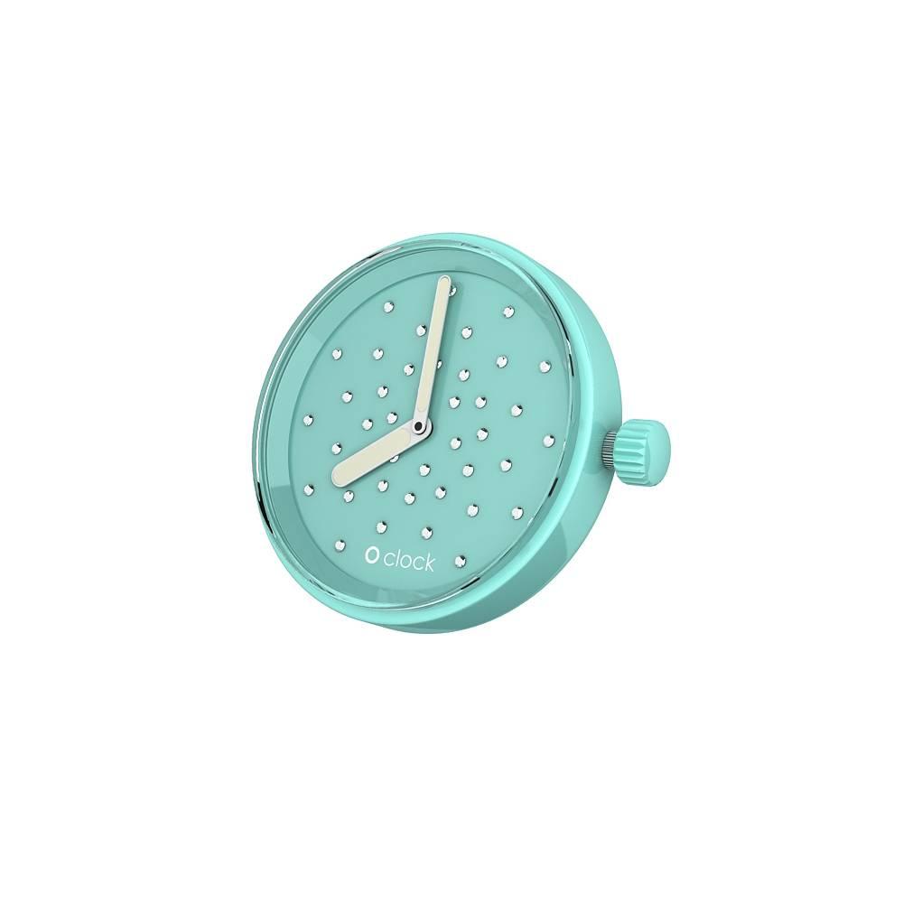 O clock klokje Crystal Turquoise