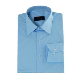 Enrico Monti  Monti blauw overhemd Venezia