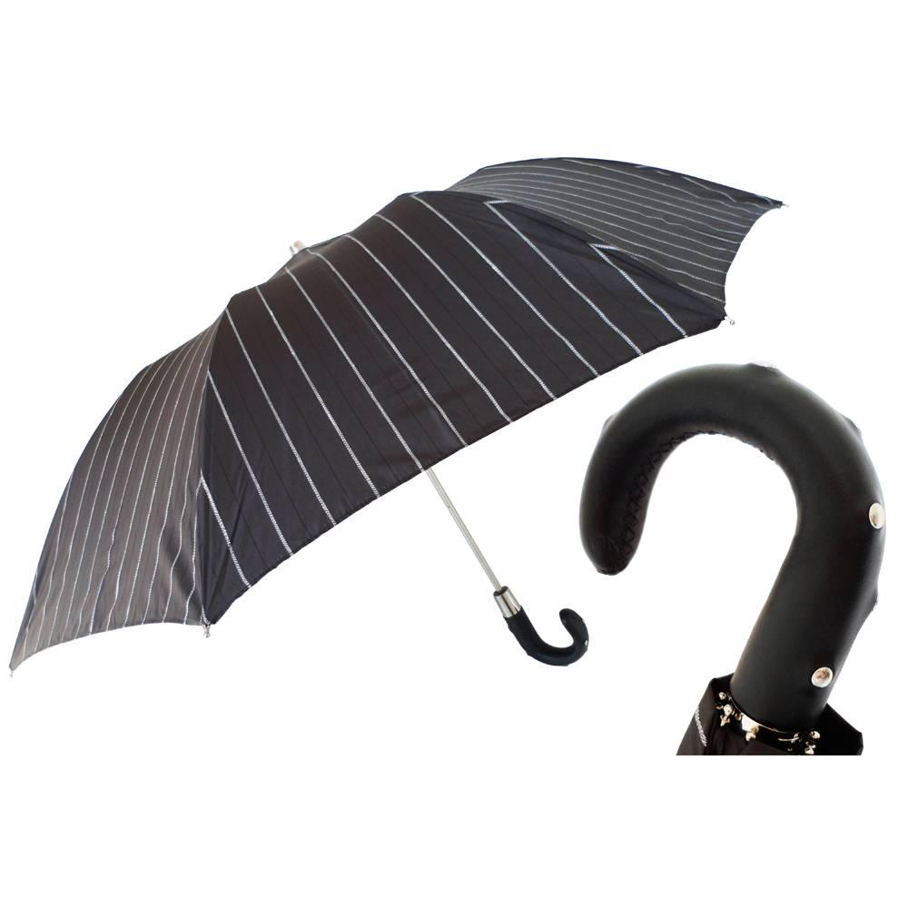 Heren·paraplu·Pasotti·opvouwbaar·wit·217