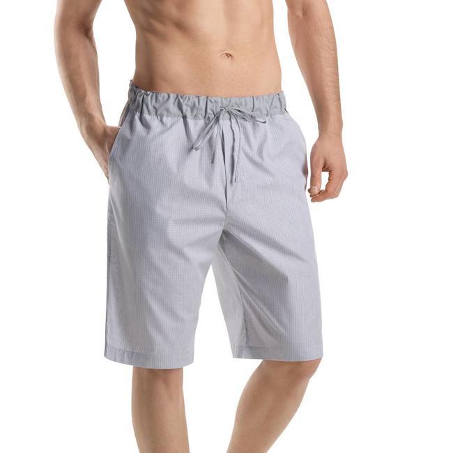 Hanro  Mens·short·pants·grey·check·Hanro·Night·&·Day·75433