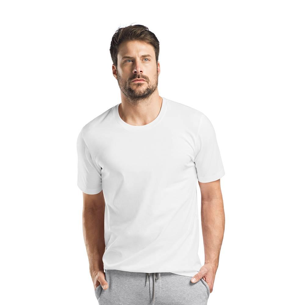 Heren·t shirt·ronde·nek·korte·mouw·wit