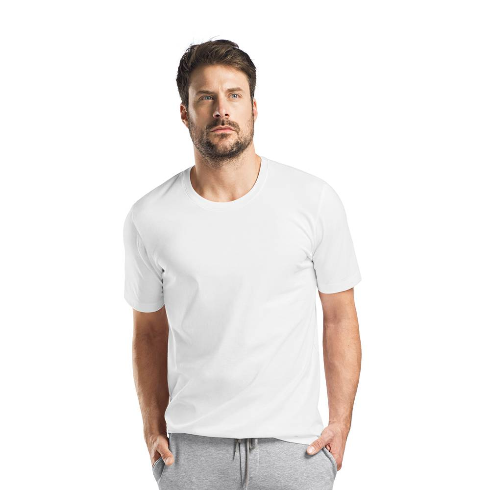 Heren·t shirt·round·nek·short·sleeve·white