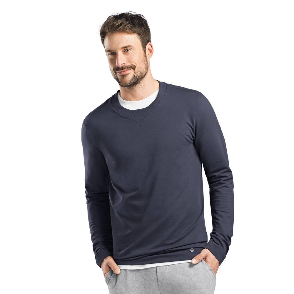 Heren·sweatshirt·ronde·nek·lange·mouw·blauw