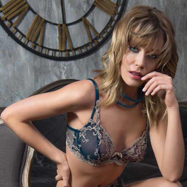AMBRA Soft cup bh Platinum Fashion Ottanio  groenblauw