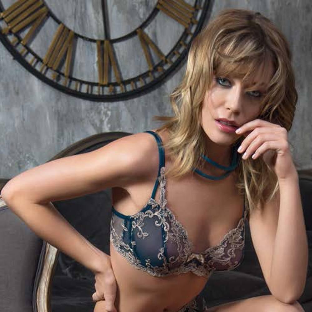 Soft cup bh Platinum Fashion Ottanio groenblauw/beige
