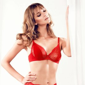 Parah  Red·balconette·bra·4014