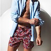 Zwemshort Meastrale Paisley rood