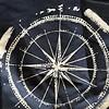 Badeshort Maestrally Paisley ein Uni blau