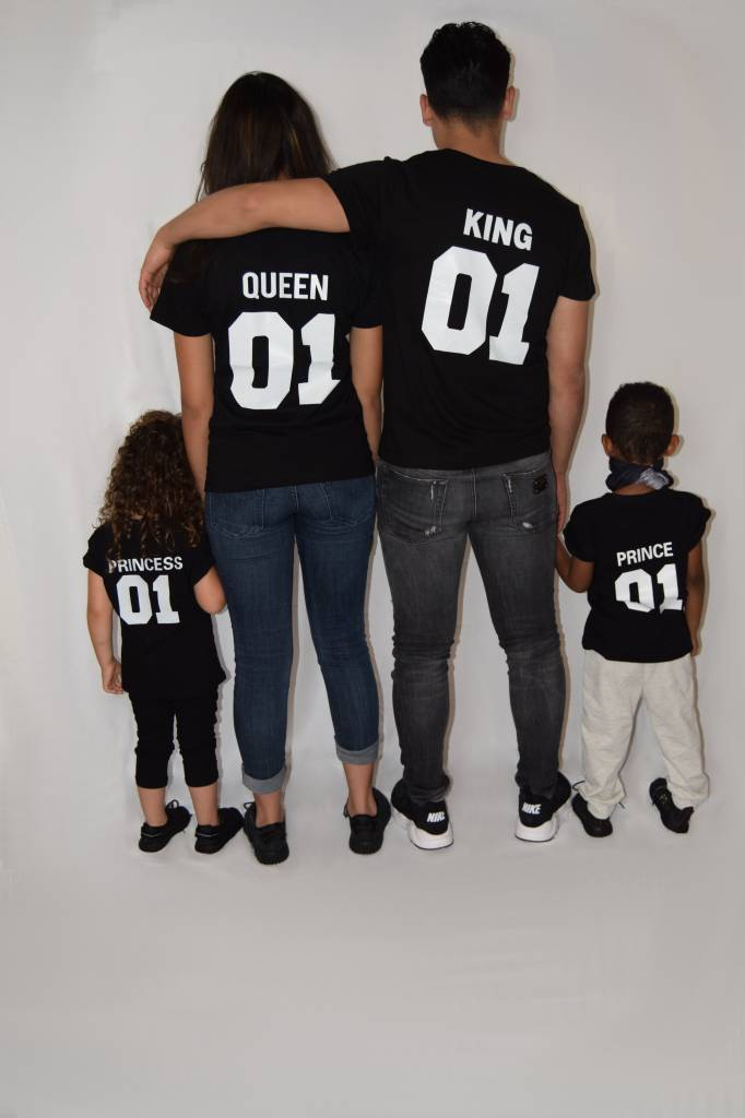 T-shirt Set Prince + King + Queen - Hipp Kiddo