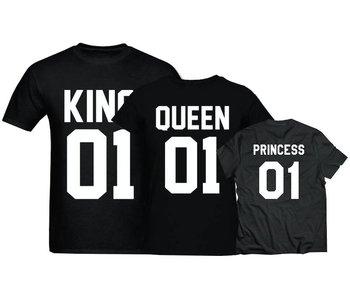 T-shirt Set Princess + King + Queen