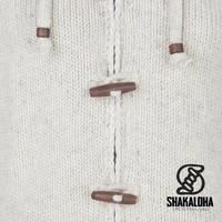 Shakaloha Damen Longstrickjacke Woodcord Beige