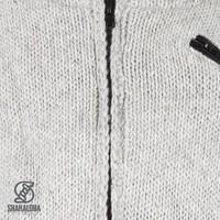 Shakaloha Crush Collar Graue Wolljacke mit Stehkragen