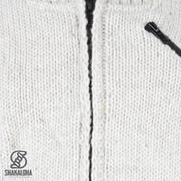 Shakaloha Crush Collar Beige Wolljacke mit Stehkragen