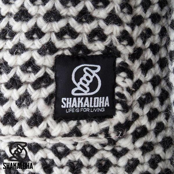 Shakaloha Cooger Zwart Cream Damen Strickmantel