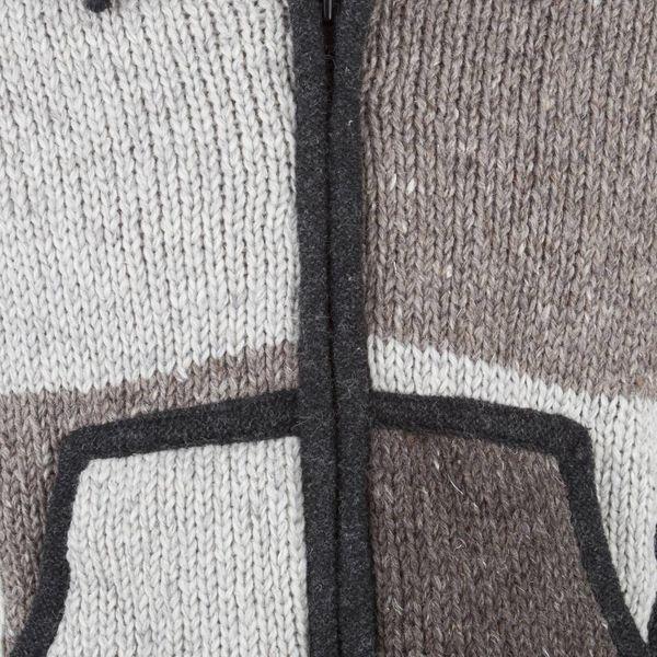 Shakaloha Mannen Patchwork NH Natural Brown Wollen Vest