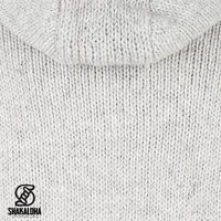 Shakaloha Flash Ziphood Graue Wolljacke mit abnehmbarer Kapuze