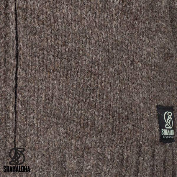 Shakaloha Radical Ziphood Hellbraune Strickjacke mit abnehmbarer Kapuze