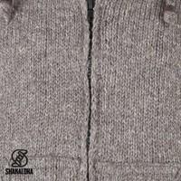 Shakaloha Flash Ziphood Hellbraune Taupefarbene Wolljacke mit abnehmbarer Kapuze