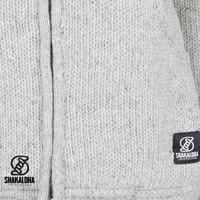 Shakaloha Chitwan Classic Graue Wolljacke mit Kapuze