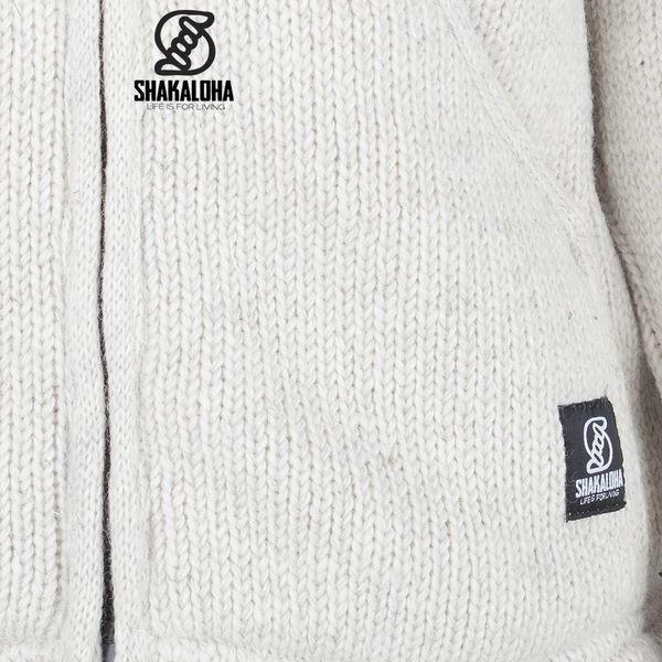 Shakaloha Chitwan Classic Beige Wolljacke mit Kapuze