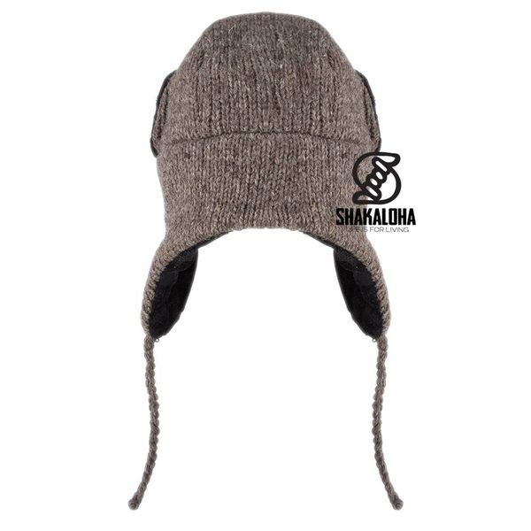 Shakaloha Kamikaze Wool Pilot Hat Light Brown