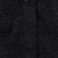 Shakaloha Cody Anthrazitfarbener halblanger Demenstrickmantel mit Knebelverschluss
