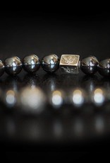 "Armband ""Thunderstruck"" - Hämatit / 935er Sterling Silber"
