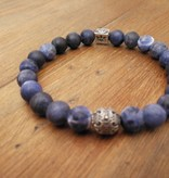 "Armband ""Blue Smoke"" - Sodalith / 935er Sterling Silber"