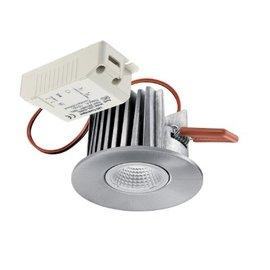 Lumiance Instar LED spot 10W 2700K vast IP44 230V, geborsteld alu
