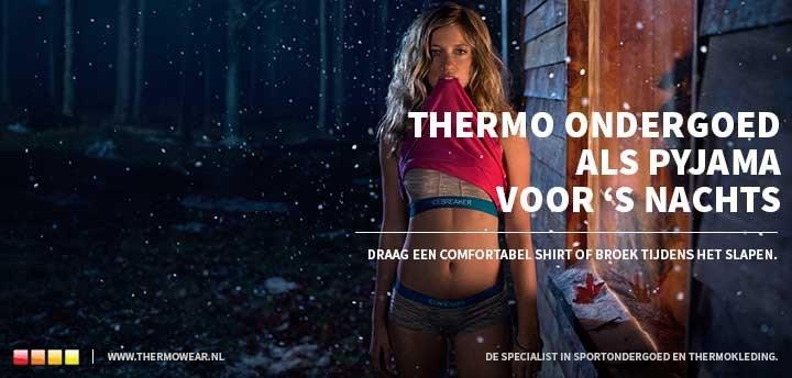 Thermo ondergoed 's nachts dragen als pyjama
