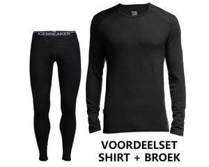 Icebreaker Merino voordeelset Bodyfit 260 shirt en broek heren