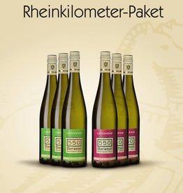 Weinpaket Edition Rheinkilometer 6 Flaschen