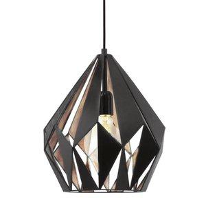 Eglo Hanglamp Carlton 1 Zwart-Koper
