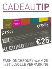 Fashioncheque van € 25,-