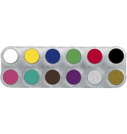 Grimas Water Make Up Paletten - A12