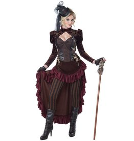 California Costumes Victoriaanse steampunk dame bordeaux