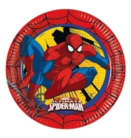 Bordjes Spiderman (Ø23cm, 8st)