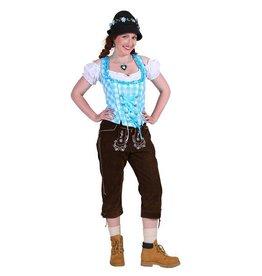 Tiroler damenhose 3/4 lang ''inga'', Donkerbruin