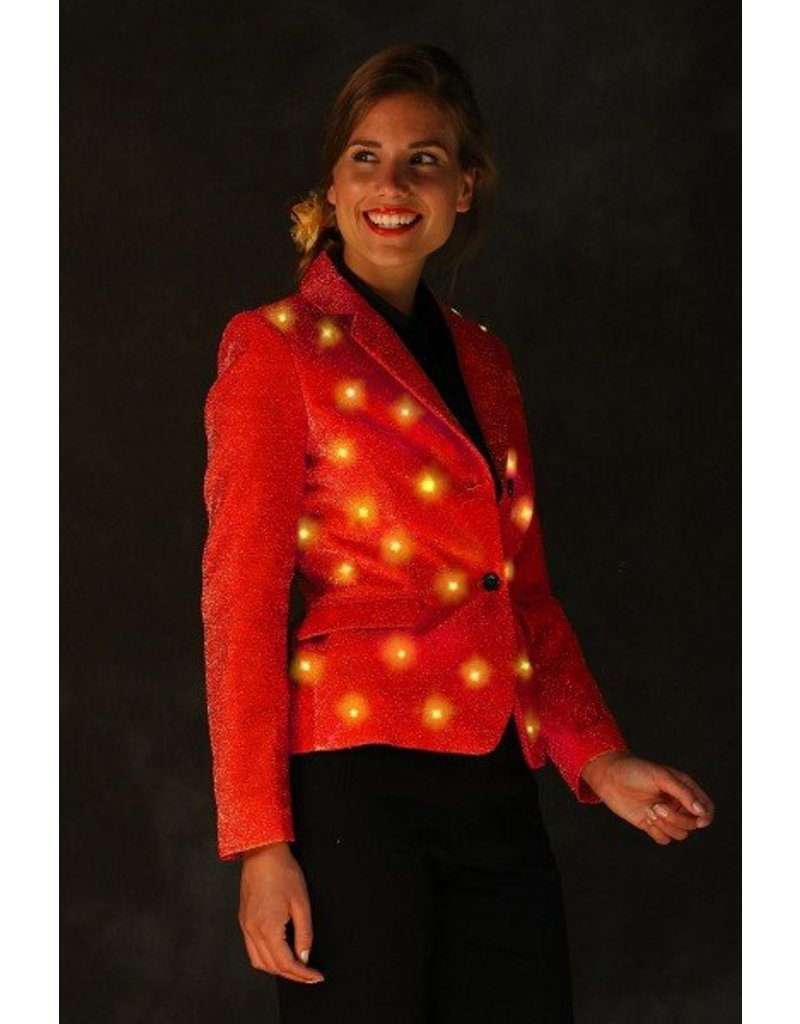 Damesjas, Anadelphina, Rood, led, carnaval, fout feest, foute party ...