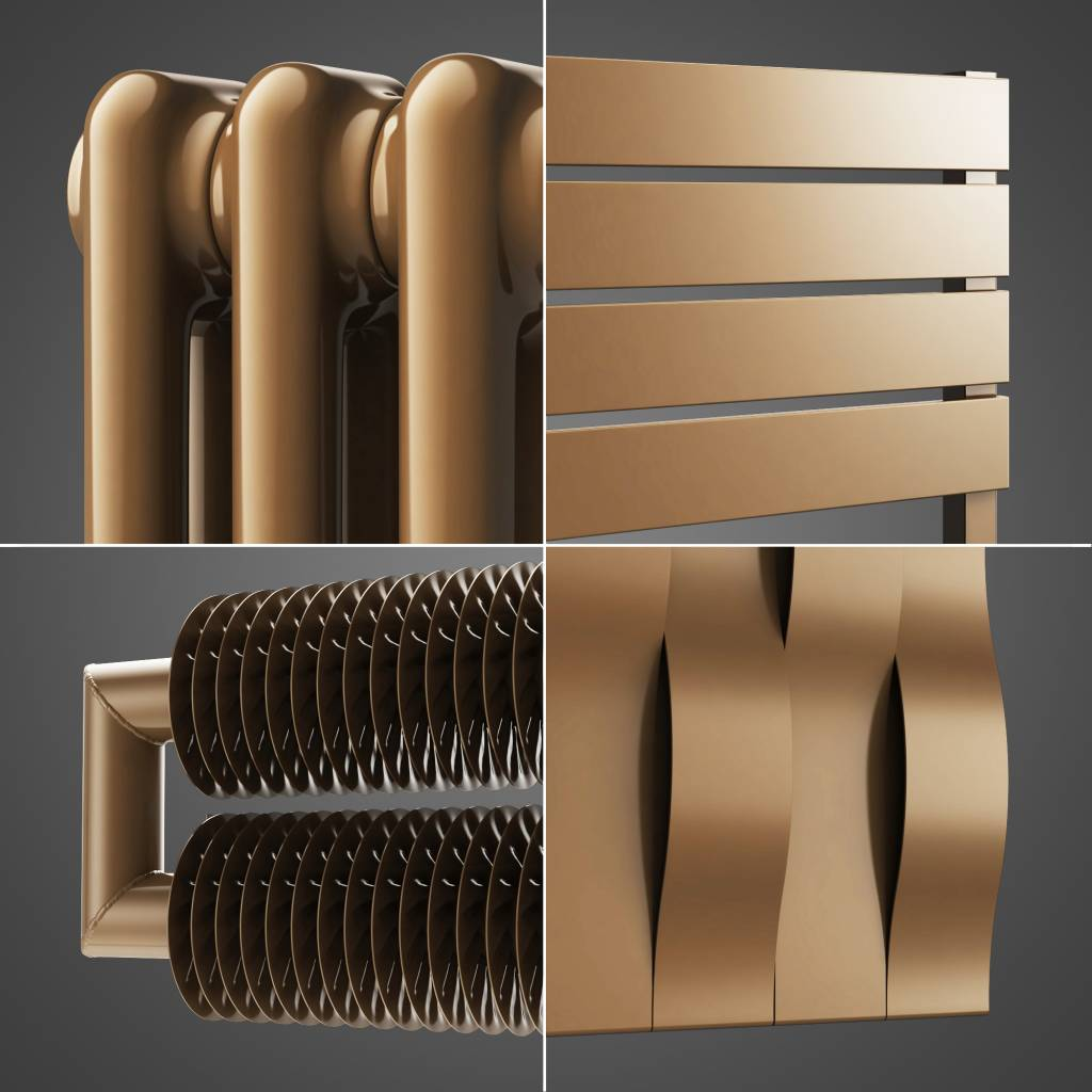 HOTHOT Radiator in pearl gold colour RAL 1036 ...