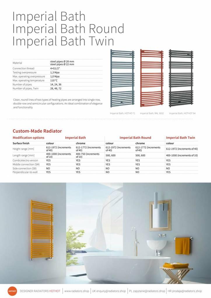 HOTHOTradiators.com | Straight ladder towel radiator - HOTHOT RADIATORS