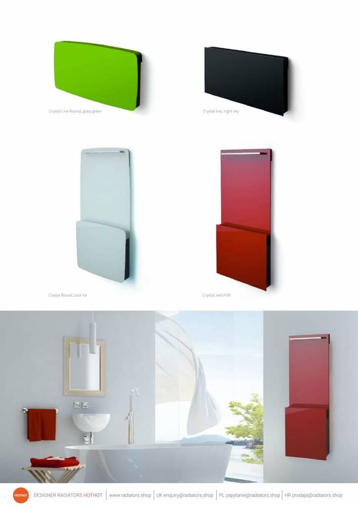 Design-Heizkörper mit Glas für die Zentralheizung - HOTHOT HEIZKÖRPER