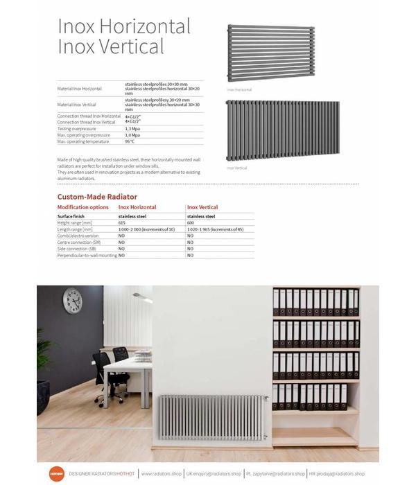 inox horizontal inox lamellenheizk rper f r k che hothot heizk rper. Black Bedroom Furniture Sets. Home Design Ideas
