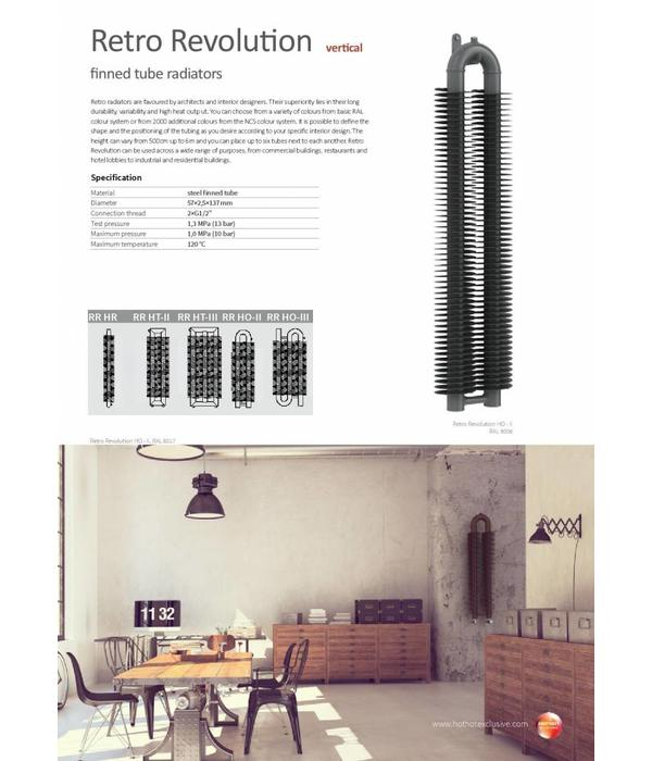 RETRO REVOLUTION HO III | Vertikaler industrieller Heizkörper mit ...