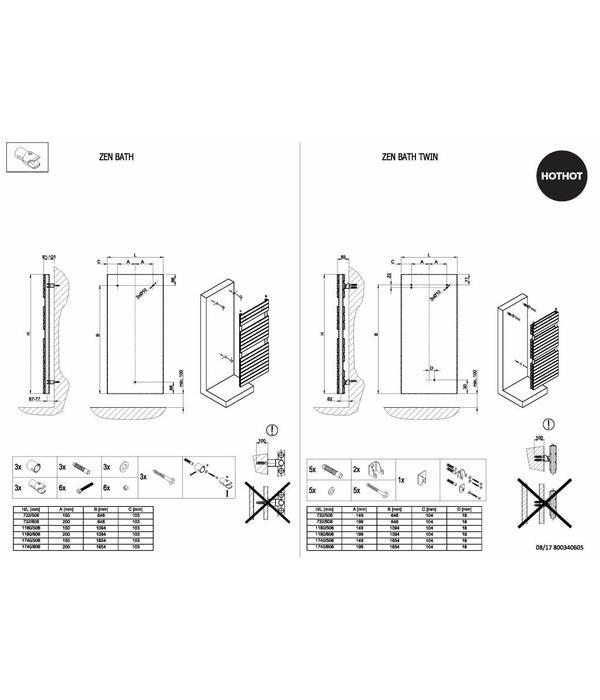 Central Heating Towel Rail | 49 Colours - HOTHOT RADIATORS