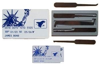 5-delige CreditCard Lockpick set