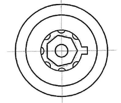 Heptagon 7 pin Tubular pick - Hexagon